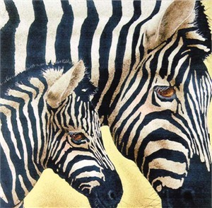 "Will Bullas Fine Art Signed Open Edition Paper :""New Striped Suit"""