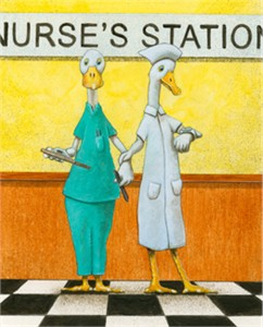 "Will Bullas Fine Art Signed Open Edition Canvas :""The Nurse's Station"""