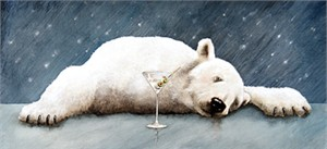 "Will Bullas Fine Art Open Edition Canvas :""A Well-Chilled Martini"""