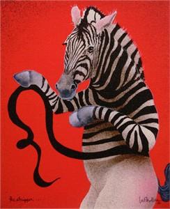 "Will Bullas Fine Art Signed Open Edition Canvas :""The Stripper"""