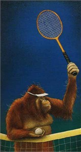 "Will Bullas Fine Art Limited Edition Paper :""Tennis Anyone?"""