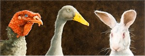 """Will Bullas Fine Art Signed Open Edition Canvas :""""Tom, Duck and Harry"""""""