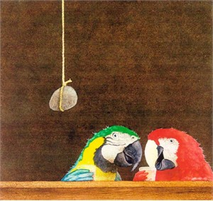 """Will Bullas Fine Art Signed Open Edition Paper :""""Two Birds with One Stone"""""""