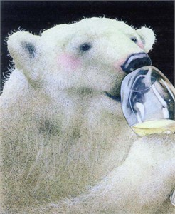 "Will Bullas Fine Art Signed Open Edition Paper :""A Well-Chilled White"""
