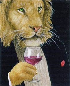 "Will Bullas Fine Art Signed Open Edition Paper :""The Wine King"""