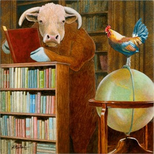 "Will Bullas Fine  Limited Edition Fine Art SmallWorks™ Giclée Canvas :""cock and bull story..."""