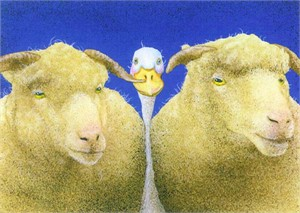 "Will Bullas Fine Art Signed Open Edition Paper :""Between the Sheeps"""