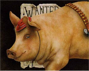 """Will Bullas Fine Art Limited Edition Paper :""""Billy the Pig"""""""