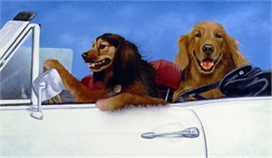 "Will Bullas Fine Art Open Edition Canvas :""Bogey & Travis"""
