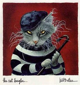 "Will Bullas Fine Art Limited Edition Paper :""The Cat Burglar"""