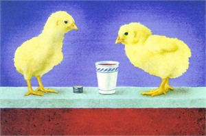 """Will Bullas Fine Art Signed Open Edition Paper :""""Chicks and Cheap Red Wine"""""""
