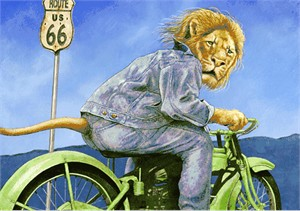 "Will Bullas Fine Art Open Edition Canvas :""King of the Road """