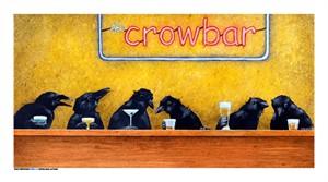 "Will Bullas Fine Art Signed Open Edition Canvas :""Crowbar"""