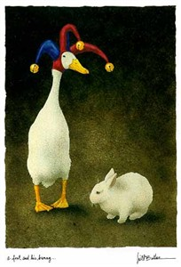 "Will Bullas Fine Art Limited Edition Paper :""A Fool and His Bunny"""