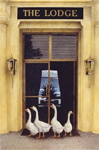 """Will Bullas Fine Art Open Edition Canvas :""""The Foursome"""""""