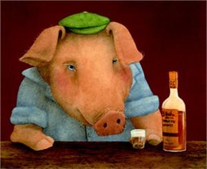 "Will Bullas Fine Art Open Edition Canvas :""Ham on Rye"""