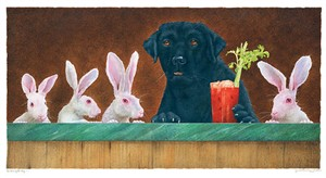 """Will Bullas Fine Art Limited Edition Canvas :""""The Hare of the Dog..."""""""