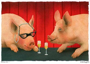 "Will Bullas Fine Art Limited Edition Paper :""The House Swine"""