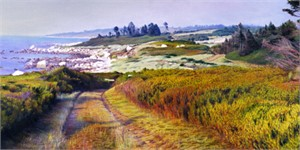 "Jon R. Friedman Handsigned and Numbered Limited Edition Giclee on Paper: ""Between Kettle Cove & Silver B"""
