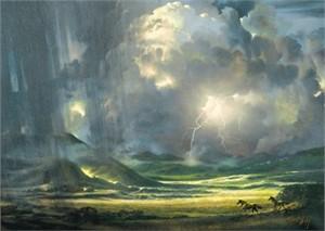 "Roberta Wesley Limited Edition Canvas: "" Rain """