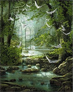 "Roberta Wesley Limited Edition Canvas: "" Sanctuary """