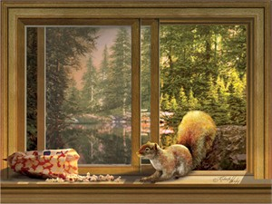 """Roberta Wesley Handsigned and Numbered Limited Edition Gallery Wrap Giclee on Canvas:""""Uninvited Guest"""""""