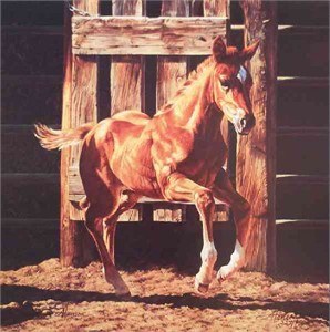 "Ann Hanson Handsigned and Numbered Limited Edition: ""The Starting Gate"""