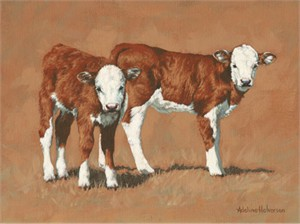 "Adeline Halvorson Handsigned and Numbered Limited Giclee Edition: ""Twosome"""