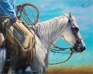 "Shannon Lawlor Handsigned and Numbered Limited Giclee On Paper Edition: ""Wind In My Reins"""