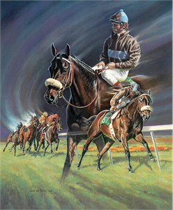 "Susan von Borstel Handsigned and Numbered Limited Edition: ""John Henry, Racing's Richest Gelding"""