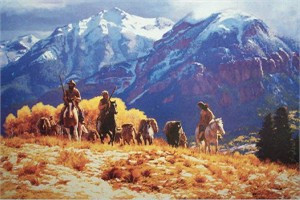 """CL Goldrick Handsigned and Numbered Limited Edition: """"Leaving Williams Creek"""""""