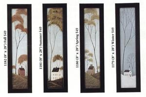 "Warren Kimble Framed Art Set:""Four Seasons Series"""