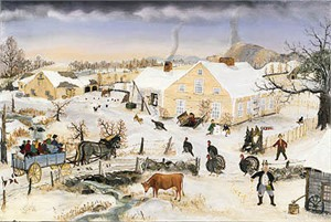 """Will Moses Handsigned & Numbered Limited Edition:""""Thanksgiving in the Country """""""