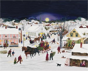 "Will Moses Handsigned & Numbered Limited Edition:""Christmas is Coming to Town """