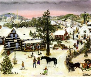 "Will Moses Handsigned & Numbered Limited Edition Print:""Christmas Horse"""