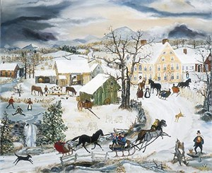 """Will Moses Handsigned & Numbered Limited Edition:"""" Winter Joy Ride"""""""