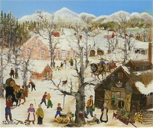"""Will Moses Handsigned & Numbered Limited Edition Lithograph : """" Pumpkin Hook Sugar House"""""""