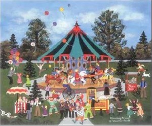 """Jane Wooster Scott Hand Signed and Numbered Limited Edition Lithograph:""""Clowning Around"""""""