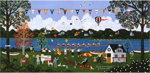 "Wooster Scott Hand Signed and Numbered Limited Edition Artist Proof Giclee Canvas : ""Regatta on the Potomac"""