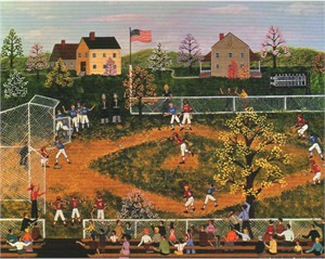 "Wooster Scott Hand Signed and Numbered Limited Edition Artist Proof Giclee Canvas: ""Bottom of the Ninth"""