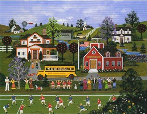 "Wooster Scott Hand Signed and Numbered Limited Edition Artist Proof Giclee Canvas: ""Soccer Moms"""