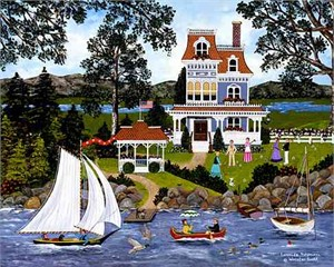 """Jane Wooster Scott Hand -Embellished Giclee on Canvas Print:""""Lakeside Potpourri """""""