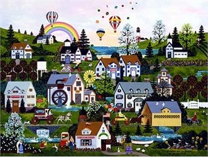 "Wooster Scott Limited Edition Giclee on Canvas:""Somewhere Over the Rainbow"""
