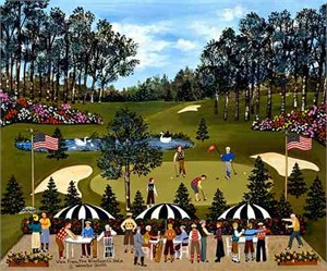 "Wooster Scott Limited Edition Giclee on Canvas:""View from the 19th Hole"""