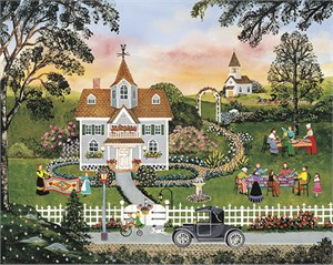 """Wooster Scott Limited Edition Giclee on Canvas:""""The Gardening Quilting Club"""""""