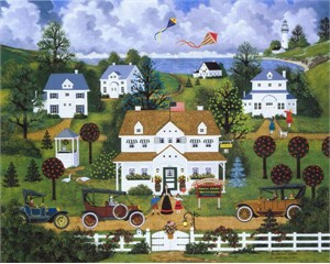 "Jane Wooster Scott Handsigned and Numbered Limited Edition Embellished Giclee on Canvas:""Springtime Cheer"""