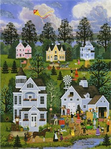 "Wooster Scott Hand Signed and Numbered Limited Edition Artist Proof Canvas Giclee: ""The Country Auction"""