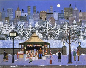 "Jane Wooster Scott Handsigned and Numbered Limited Edition Serigraph on Paper:""EIGHTH AVENUE"""