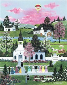 """Jane Wooster Scott Handsigned and Numbered Limited Edition Serigraph on Paper:""""A MOMENT TO CHERISH - REMARQUE"""""""