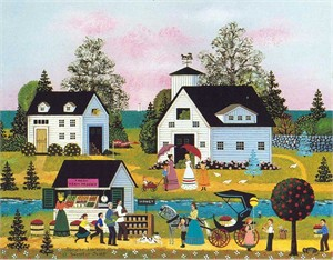 "Jane Wooster Scott Handsigned and Numbered Limited Edition Serigraph on Paper:""SUMMER HARVEST """